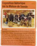 Article sur l'expo de la maison de Savoie
